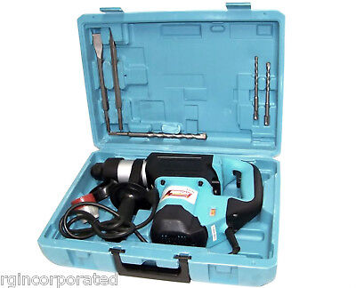 """1-1/2"""" Rotary Demolition Hammer Drill with drill bits and chisel"""