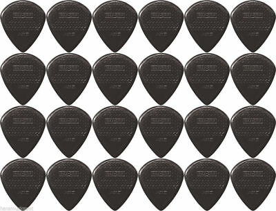 24 X Jim Dunlop Max Grip Jazz 3 Black Guitar Picks / Plectrums *NEW* Jazz III