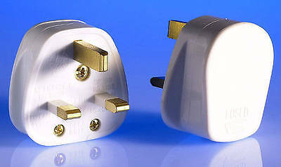 13amp Plugs White Trade Pack of 40 plugs - Electricians/PAT Testers