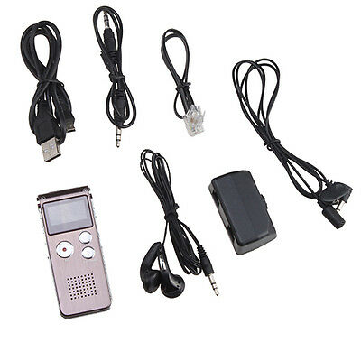 Rechargeable 4GB Digital Telephone Sound Voice USB Recorder Dictaphone MP3Player