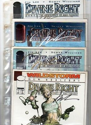 DIVINE RIGHT Adventures Max Faraday  #1 #2 #3 #4 SIGNED JIM LEE COA  N/MINT MINT
