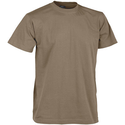 Helikon Army Tactical Combat Mens T-Shirt Work Wear 100% Cotton Us Brown S-3Xl