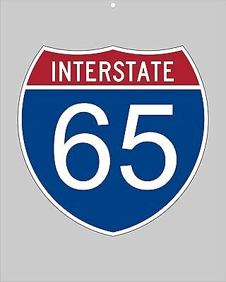 I-65 metal Interstate highway sign - Mobile to Nashville to Indy to Chicago