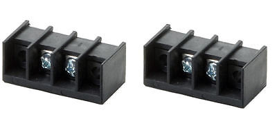 Pair Chassis Mount Two Conductor Screw Terminal Blocks P-28-03-204