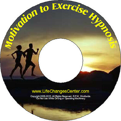 Motivation to Exercise Hypnosis CD System- Fitness Hypnosis CD - FREE SHIPPING!