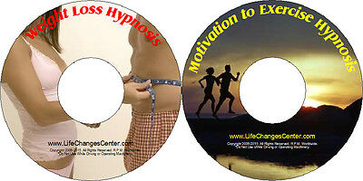 Weight Loss Hypnosis-Motivation To Exercise Hypnosis 2 CD System- FREE SHIPPING!