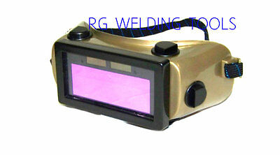 H  D Auto Darkening Cutting Welding Goggles Solar powered Rechargeable Battery