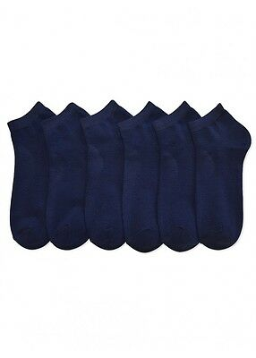 12 Packs Ankle Cool Socks Sport Mens Womens Size 9-11 Low Cut Lot NWT#70033 NAVY
