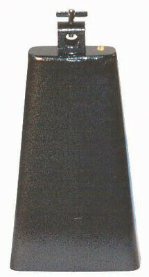 """POWERBEAT Cowbell 8½"""" Steel Black Pewter Finish *NEW* Thumbscrew Mount"""