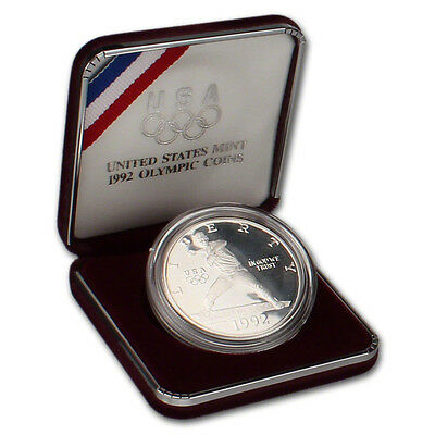 1992-S US Olympic Commemorative Proof Silver Dollar