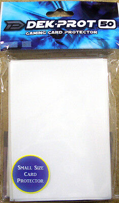 Yugioh/Vanguard Sized Deck Prot White Card Protectors Sleeves 50ct