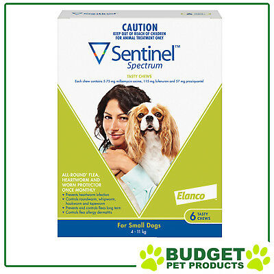 Sentinel Spectrum For Dogs 4-11kg Green 6 pack