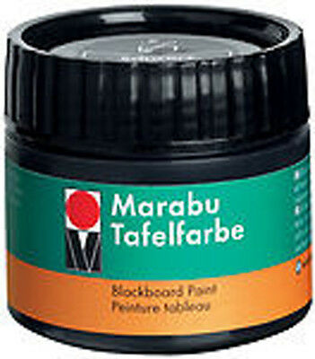 Marabu Blackboard Paint 225ml - Ebony Black for chalkboards / black boards