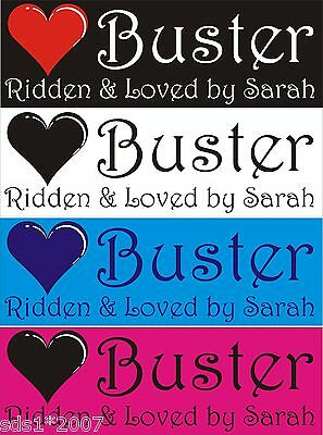 Personalised stable door name plate plaque sIgn 300mm x 100mm any colours