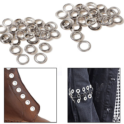 50 x 18mm or 20mm Silver Eyelets with Washers - for Banners - UK Seller