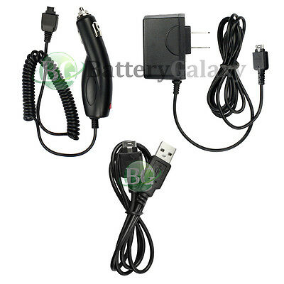 Home Wall AC+Battery Car Charger+USB Sync Cable for LG enV enVY VX9900 vx9400