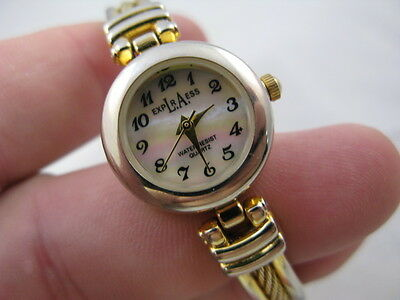 LA EXPRESS Mother of Pearl Face, GP Bangle Band, LADIES WATCH, 0987 L@@K!!!!
