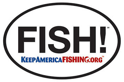 FISH Keep America Fishing Sticker 100pk!