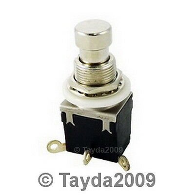 1P2T SPDT Momentary Stomp Foot Pedal Push Button Switch Solder Lugs - Free Ship