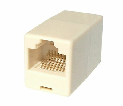 10 x RJ45 LAN Straight Coupler Network Cable Join Ethernet Multi Pack X10 Beige