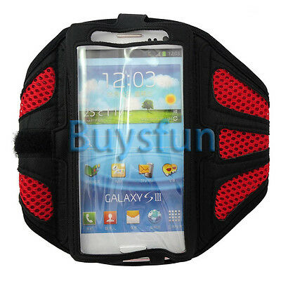 Red Sport Gym Armband Case Cover For Samsung Galaxy S3 i9300