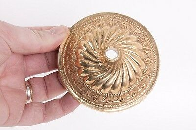 """3 For 2! """"Swirl Centre"""" Solid Brass Period Ceiling Rose"""