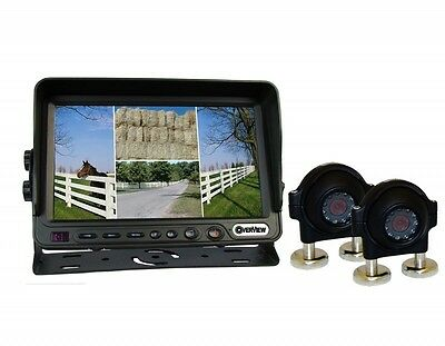 """Overview 7"""" Quad Monitor with 4 Camera Inputs and 2 Camera Kit (DMOV-7MQ-C2)"""