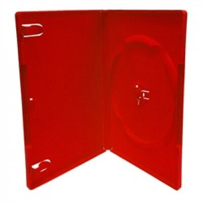 (SAMPLE) - 1 STANDARD Solid Red Color Single DVD Cases