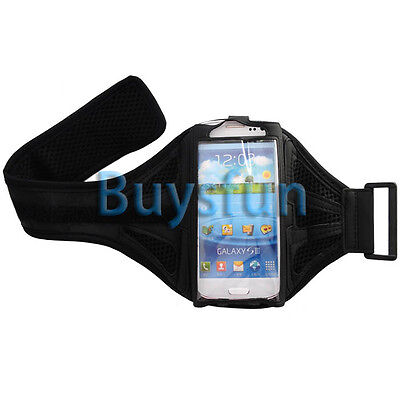 Black Sport Gym Armband Case Cover For Samsung Galaxy S3 i9300