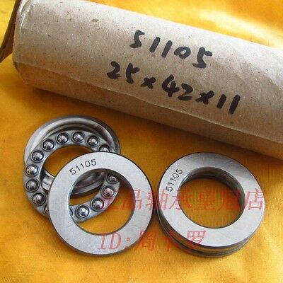 1PC 25mm x 42mm x 11mm 51105 Axial Ball Thrust Bearing 3-Parts 25*42*11