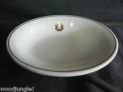 Vintage JACKSON CHINA SOAP DISH OVAL HOTEL WARE RESTAURANT GOLD LEAF MID CENTURY