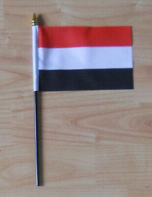 Yemen Country Hand Flag - small