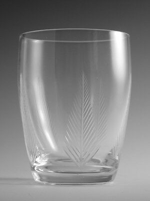 "STUART Crystal - WOODCHESTER Cut - Large Tumbler Glass / Glasses - 3 7/8"" (2nd)"