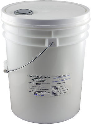 5 Gallon Pail of Pure Vegetable Glycerin Food Grade USP Soap Lotion