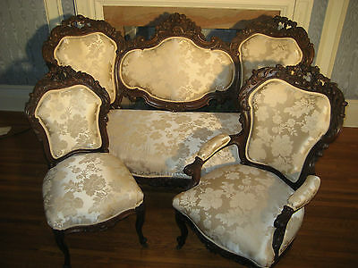 Antique Parlor Set Sofa And Chairs