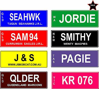 Novelty Customised Personalised Number Licence Plates - Birthday Gift