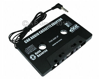3.5mm - Car Audio Tape Cassette Adaptor Adapter Black For Mp3 ipod iphone to Car