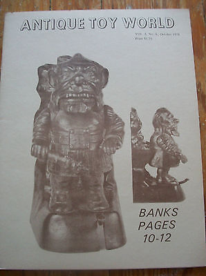 1978 Antique Toy World Magazine Toy Banks