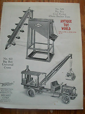 1978 Antique Toy World Magazine Britain Figures 1908 Railway Station Set