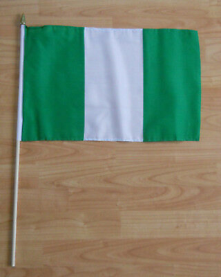 Nigeria Country Hand Flag - large