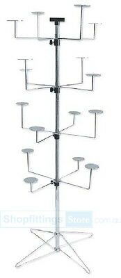 Floor 4 levels 16 Hat Holders Spinner Display Stand Rack SPIN-SP220