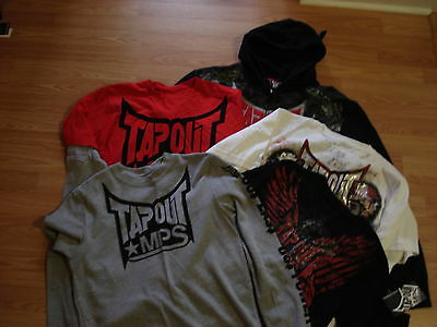 TAPOUT MPS UFC $230 Mens (Lot of 5) Hoodie,LS T-Shirts,T-Shirts Size  S  NWT