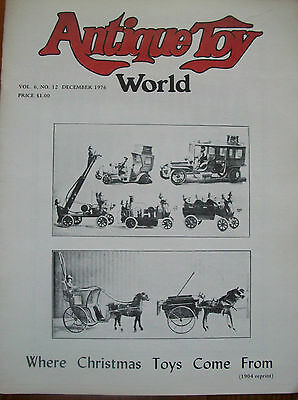 1976  Antique Toy World Magazine Where Christmas Toys Come From