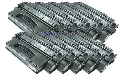 10PK HP Q7553X 53X High Yield Black Laser Toner for  HP LaserJet P2015x