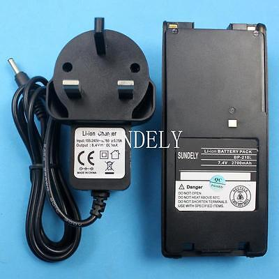 BP-209 BP-210 Li-ion Battery + Charger for ICOM Radio IC-A6 IC-A6E IC-A24