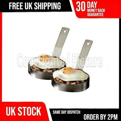 2 Heavy Duty Egg Rings Large Professional Catering Caterer Fried Frying Pancake