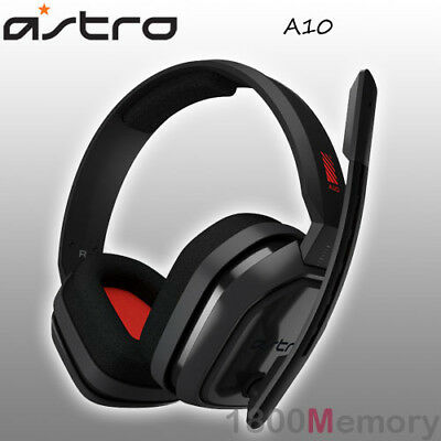 Astro A10 Wired Gaming Headset Headphones for PS4 Pro Xbox One PC Mac Red Grey