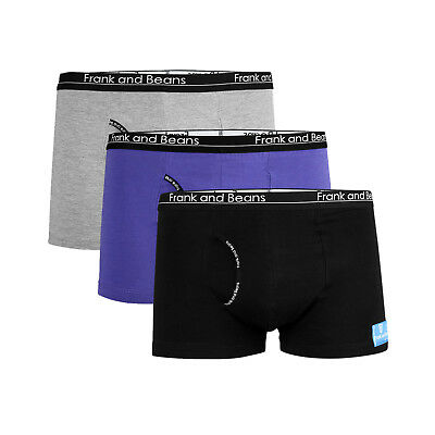 3 Qty Frank and Beans Mens Underwear BOXER BRIEFS Trunks Cotton Every Size BB323