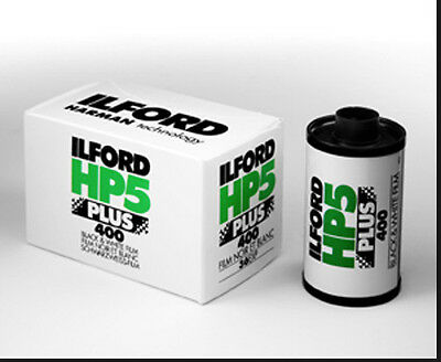 ILFORD HP5 400 PLUS 35mm 36exp B+W (5 Pack) **Free UK 1st P&P**