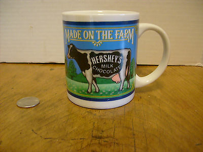 Hershey's Milk Chocolate Coffee Mug CUP Made on the Farm Logo, RB-3a